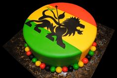 Rasta Cake for my babys birthday next month But a weed leaf and