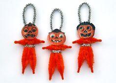 JackoLantern Halloween Decoration Ornaments  by oldworldprimitives, $11.00