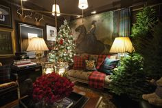 Country Living Have I mentioned how much I love tartan plaid? My love for plaid intensifies this time of year! Country Living In fact, I& Tartan Christmas, Christmas Love, Merry Christmas, English Christmas, Xmas, Country Christmas, Christmas Trees, Equestrian Decor, Ideas