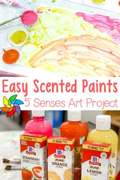 Scented Paint - Five Senses Art for Preschoolers