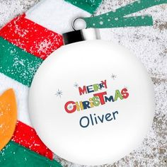 Personalised Colourful Christmas Bauble