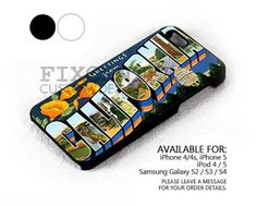 California Greeting case for iPhone 4/4S/5 iPod 4/5 Galaxy S2/S3/S4 | FixCenter - Accessories on ArtFire
