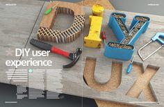 3D illustration for .net magazines feature on DIY UX design
