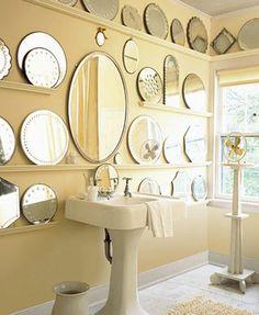 Martha Stewart etched mirror plateaus