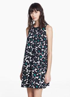 Kleid mit blumenmuster - Kleider für Damen | MANGO