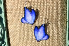 Shades of Purple Butterfly Earrings by ValeriesVanityMirror on Etsy