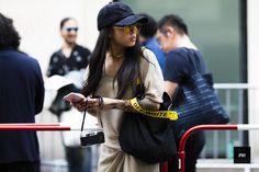 Streetstyle of Christina Paik during Paris Fashion Week Spring Summer 2017