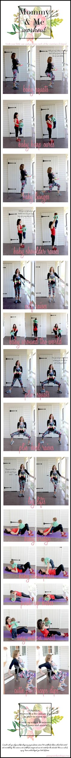 A mommy and me workout from pumps and push-ups.  #hotmamafit