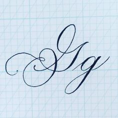 This letter G is dedicated to my sister Gabrielle who just moved her family all the way from CO just to live closer to… Copperplate Calligraphy, Calligraphy Handwriting, Calligraphy Alphabet, Typography Letters, Penmanship, Handwriting Ideas, Creative Lettering, Lettering Styles, Lettering Ideas