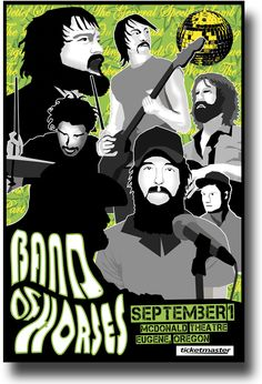 Band of Horses Poster Concert $9.84 #BOH