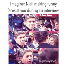 Awww he is so funny . i love niall so much ! Niall Horan Imagines, One Direction Imagines, He Loves Me, James Horan, 1d And 5sos, Funny Faces, Couple Goals, Love Story, Famous People