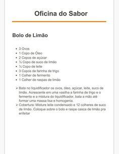 Bolo de limão - Damaris (ingredientes e preparo)