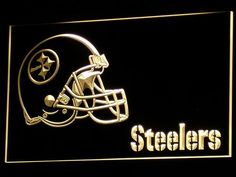 Pittsburgh Steelers Helmet Neon Sign