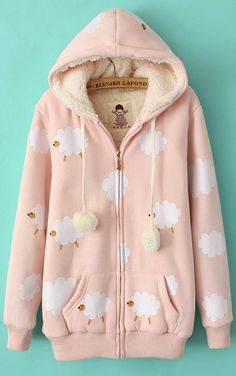 Lovely sheep coat in pink