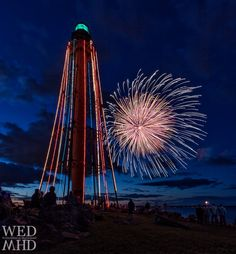 Marblehead's annual Fourth of July Fireworks light up the lighthouse