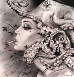 Bene Fik | tsū - Brian Viveros #surreal #octopus #tentacles