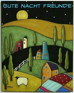 by Karla Gerard ♥ Folk art ♥ Art Populaire, Folk Embroidery, Embroidery Designs, Naive Art, Whimsical Art, Art Plastique, Painting Inspiration, Art Lessons, Painting & Drawing