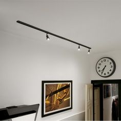 Elegant Spots Sur Rail   Lampe Puri L2x100 Cm   Noir
