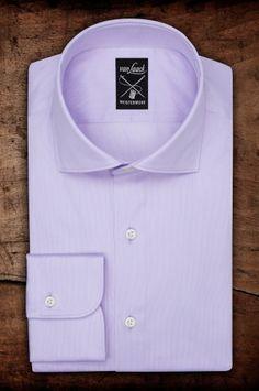 MIVARA Tailor Fit wide spread collar, single cuff