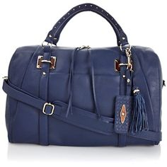 """#HSN  #FallFashion        Elliott Lucca """"Lucca"""" Snake-Embossed Leather Duffle at HSN.com."""