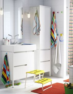 Beau Best Short On Bathroom Storage Use Your Walls Add Ikea Hooks Rails Or Wall  With Ikea Lave Main Wc