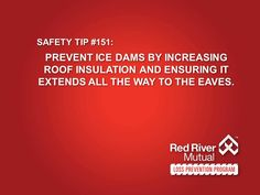 Safety Tip Prevent ice dams by increasing roof insulation and ensuring it extends all the way to the eaves. Home Safety Tips, Ice Dams, Mechanical Ventilation, Flooded Basement, Cleaning Appliances, Cooking Appliances, Roof Insulation, Fire Prevention, Sump Pump