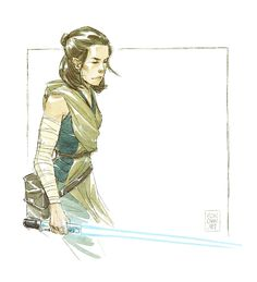 Quickie Rey doodle! First sketch on my new Wacom MobileStudio Pro!