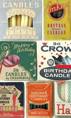 Vintage Birthday Candles