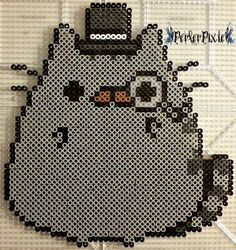 Fancy Pusheen by PerlerPixie on DeviantArt