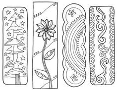 Free Doodle Bookmarks To Print Out And Color