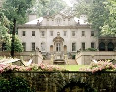 The Swan House, built in 1928, is a grand Italianate mansion that is an Atlanta landmark, once the home of Edward and Emily Inman, heirs to a cotton brokerage fortune. The Swan House is an excellent example of the Second Renaissance Revival style and represents the architectural and decorative tastes of affluent citizens in the late 1920s. The house was designed by a well-known Atlanta architect by the name of Philip Trammell Schutze in 1928 and decorated by Ruby Ross Woods of New York.