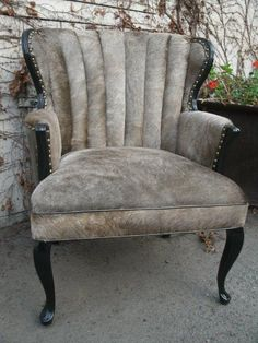 Cowide Chair by TheBackSeat on Etsy, $975.00
