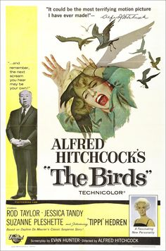 The Birds (1963), Alfred Hitchcock. This is an awesome movie, scary but not too gross.