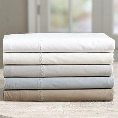 Casa Florentina Washed Percale Flat Sheet