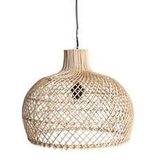 Handmade rattan lamp pendant - sizes may vary slightly. Also available in a black coloured Rattan. 3 Light Pendant, Lantern Pendant, Pendant Lamp, Pendant Lighting, Rattan Lampe, Lampe Industrial, Bamboo Lamp, Woven Shades, Home Decoracion