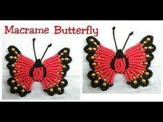 Hi It's Macrame Creation . Here in this Video i show you New design Macrame Butterfly making. Macrame Design, Macrame Art, Macrame Projects, Macrame Mirror, Macrame Knots, Macrame Toran, Borboleta Crochet, Macrame Jewelry Tutorial, Bracelet Tutorial