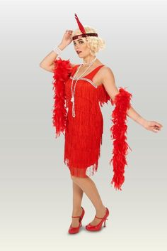 Great Halloween Costumes, Halloween Trick Or Treat, Adult Halloween, Adult Costumes, Great Costume Ideas, Flapper Costume, 1920s, Glamour, Red