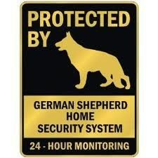 German Sheperd Dog... so true.. mine is a love bug to close friends and family but others won`t even approach the house if he is out.