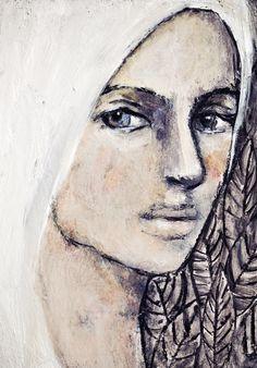 Mixed Media by Misty Mawn Art Journal Inspiration, Art Painting, Face Art, Figure Painting, Art Sketchbook, Portrait Painting, Face Drawing, Portrait Art, Beautiful Art