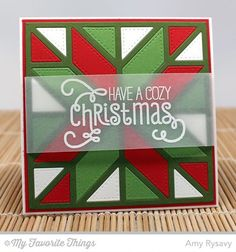 Cozy Greetings, Quilt Square Cover-Up Die-namics, Square Frames Die-namics - Amy Rysavy #mftstamps