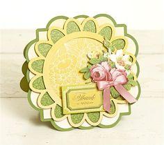 Anna Griffin Elegant Edges Cricut image set -- Thank you card. Make It Now in Cricut Design Space