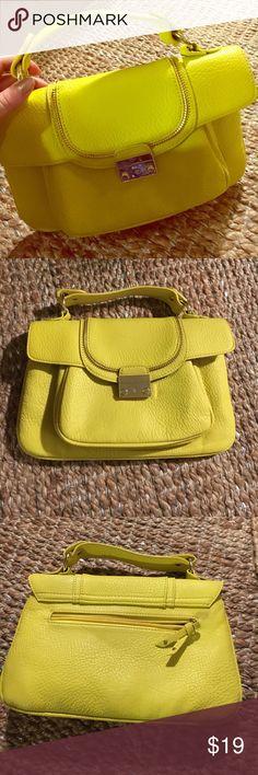 Olivia + Joy yellow handbag Olivia + Joy bright yellow leather handbag. Excellent condition Olivia + Joy Bags Mini Bags