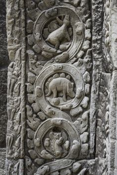 Dinosaurs Carving at Ta Prom Temple by Nang Ray on 500px