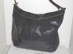Coach Soho Pleated Patent Crossbody Hobo-Gently Used Coach Handbags, Leather Handle, Soho, Patent Leather, Shoulder Strap, Style, Fashion, Swag, Moda
