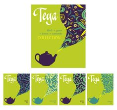 Teya tea package by Stefana Argirova, via Behance