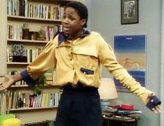 Theo and the shirt Denise made him.  One of my most favorite Cosby Show episodes.