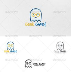 Geek Ghost  Logo Template — Vector EPS #glass #simple • Available here → https://graphicriver.net/item/geek-ghost-logo-template/5387888?ref=pxcr