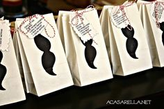 Mustache Party Favor Bags!  #party #favors #mustache #birthday