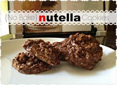 {No Bake} Nutella Cookies