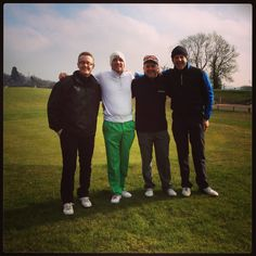 Me, Nigel, Rick and Pete on the 1st Tee of the Monty course at Celtic Manor 19th Feb 2013